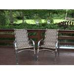 02 Cadeiras Emily em Alumínio Capuccino