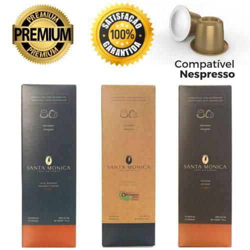 30 Cápsulas para Nespresso Kit Degustação Café - Santa Monica