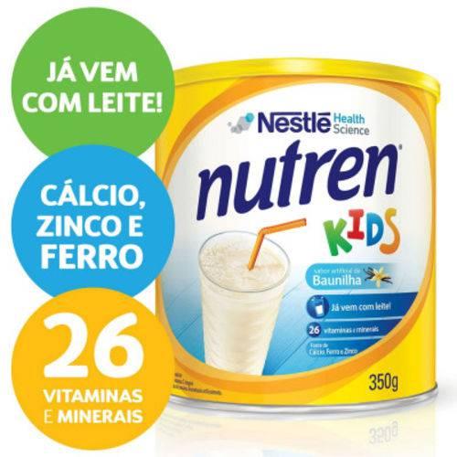 12 Latas Nutren Kids Baunilha Suplemento Alimentar Lata 350g
