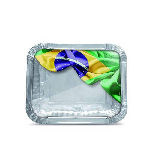 12 Marmitinha Vai Brasil M 8,5X6,5X2,5Cm Dec. Festas