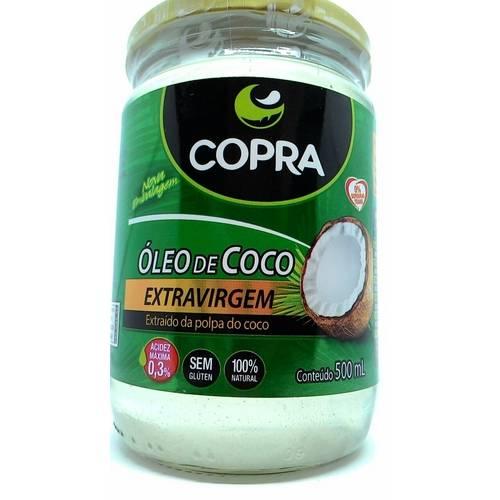 12 Óleo de Coco Extra-Virgem 500ml Copra Caixa Fechada