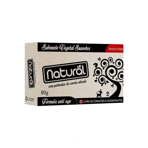 2 Sabonete Natural Suavetex com Carvão Ativado 80g Cada