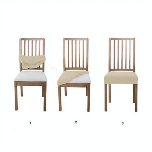 1 Unidade de Capa para Assento de Cadeira CL Capas Bege