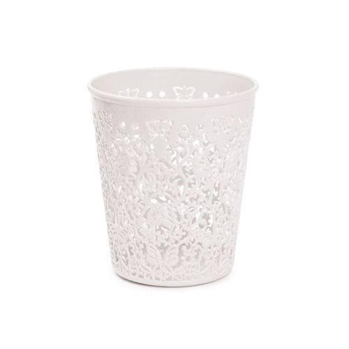 12 Vasos Cachepot Renda Branco M Dec. Festas