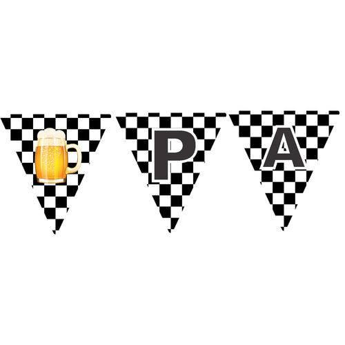 10 Bandeirolas Triangular Boteco Preto e Branco