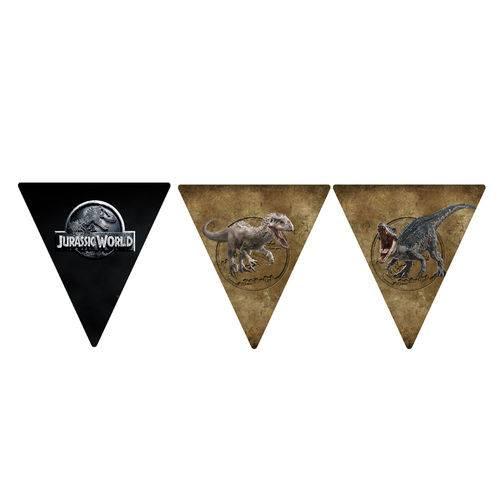 10 Bandeirolas Triangular Jurassic World