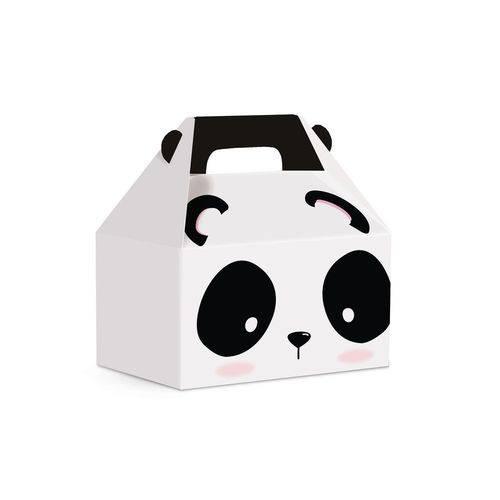 10 Caixas Maleta Kids Panda M 12x8x12cm Dec. Festas