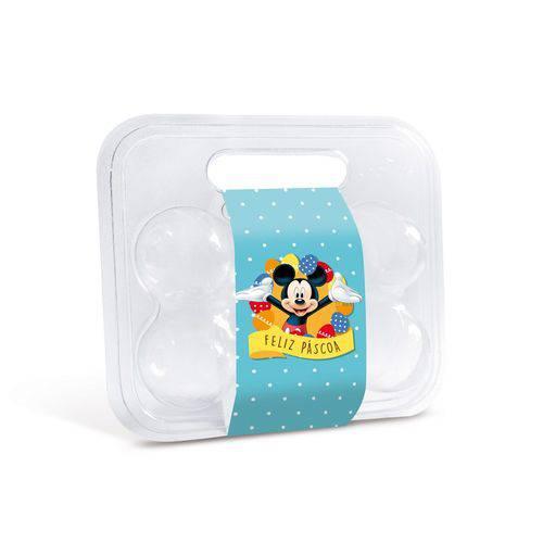 10 Caixas Maleta P/6 Ovos Pascoa Cinta Mickey Disney Azul