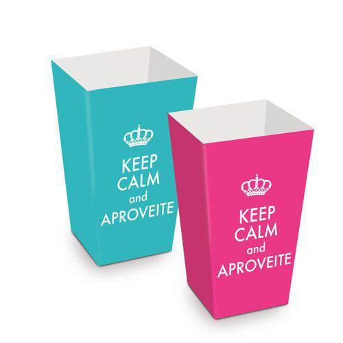 10 Caixas P/ Pipoca Keep Calm Sort. Dec. Festas