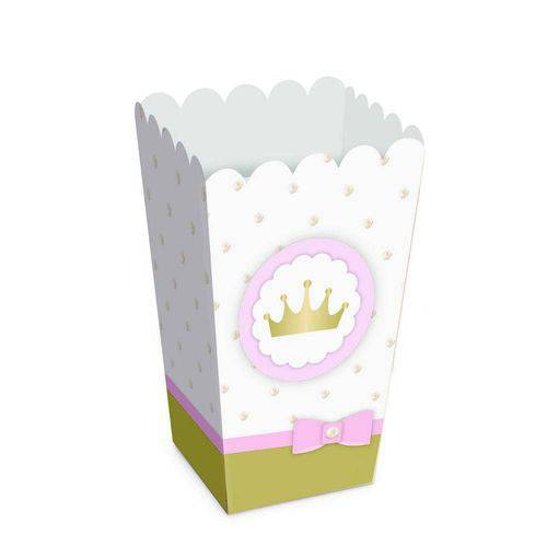 10 Caixas P/ Pipoca Reinado da Princesa Dec. Festas