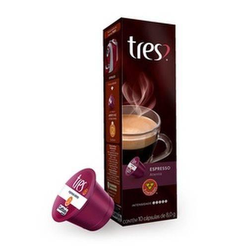 10 Cápsulas de Café Espresso Atento 3 Corações