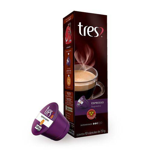 10 Cápsulas de Café Espresso Supremo 3 Corações