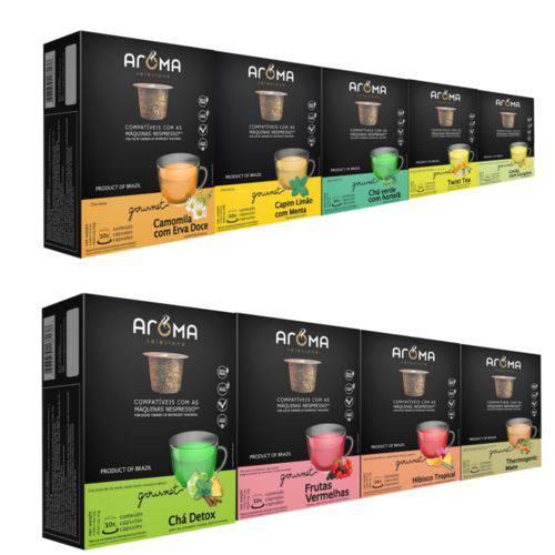 120 Cápsulas para Nespresso Kit Degustação Chá - Aroma Selezione