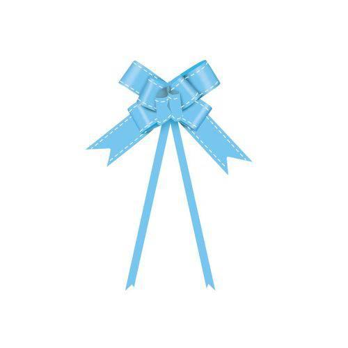 10 Laços Gravata Embalagem Presente Fita 18mm Azul Claro