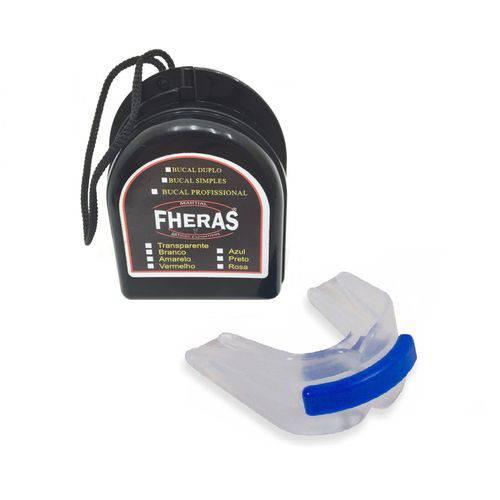 10 Unidades de Protetor Bucal Duplo Transparente com Caixinha Fheras