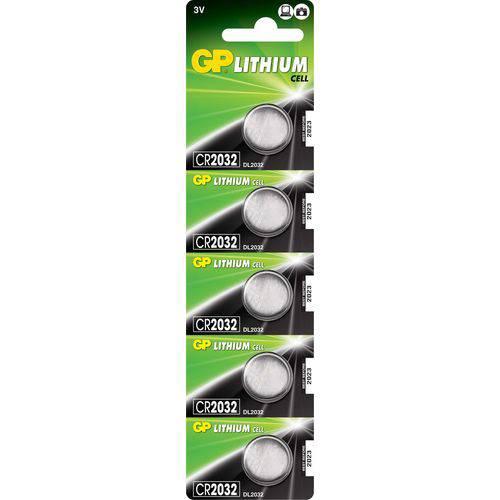100 Baterias Gp Batteries Lithium Moeda 3v 220mah Cr2032-c5