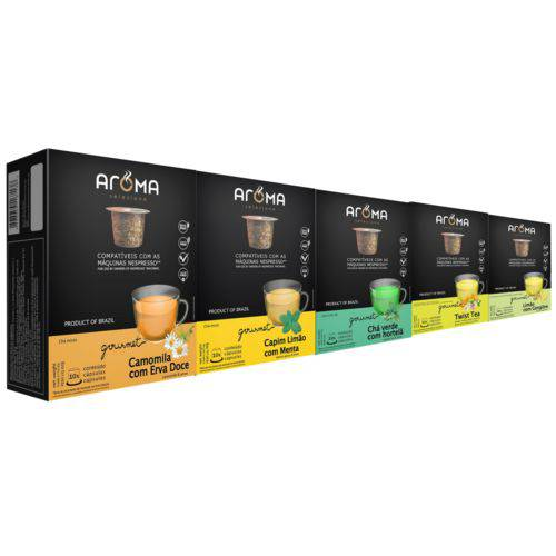 100 Cápsulas para Nespresso Kit Chá Funcional - Aroma Selezione