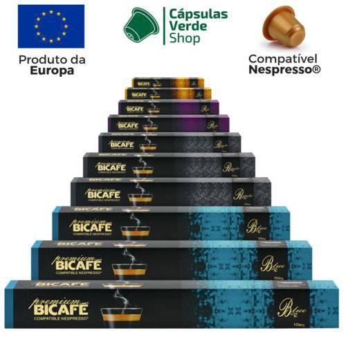 100 Cápsulas para Nespresso Kit Degustação Café Premium - Bicafé