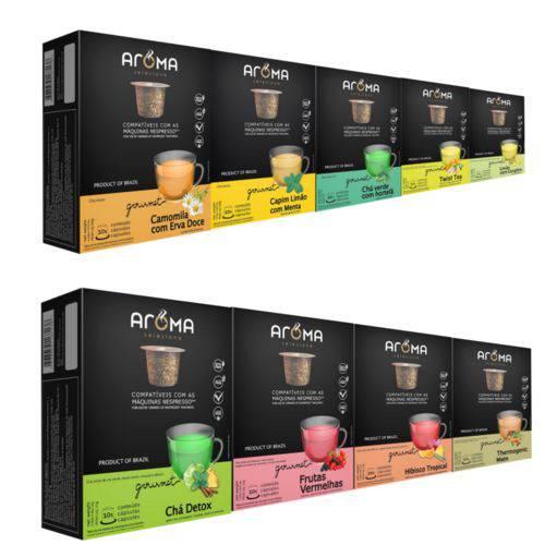 100 Cápsulas para Nespresso Kit Degustação Chá - Aroma Selezione