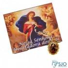 100 Cartões com Medalha de Nossa Senhora Desatadora dos Nós | SJO Artigos Religiosos
