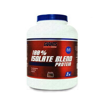 100% Isolate Blend Protein 2kg Pote - Giants Nutrition 100% Isolate Blend Protein 2kg Chocolate - Giants Nutrition