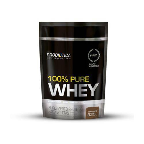 100% Pure Whey Probiótica Refil 825g Sabor Chocolate