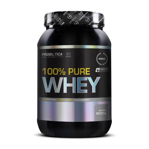 100% Pure Whey - 900g - Probiótica - Sabor Natural