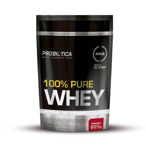 100% Pure Whey Pouch - 825g - Probiótica - Sabor Morango