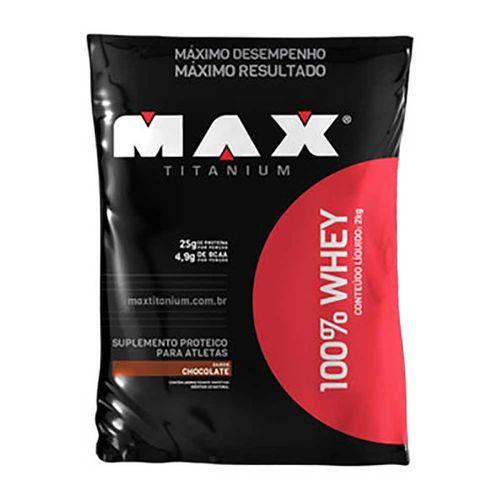 100% Whey - 2.0 Kg Refil - Chocolate - Max Titanium