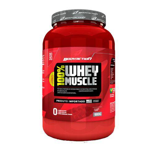 100% Whey Muscle 900g Bodyaction - Proteina