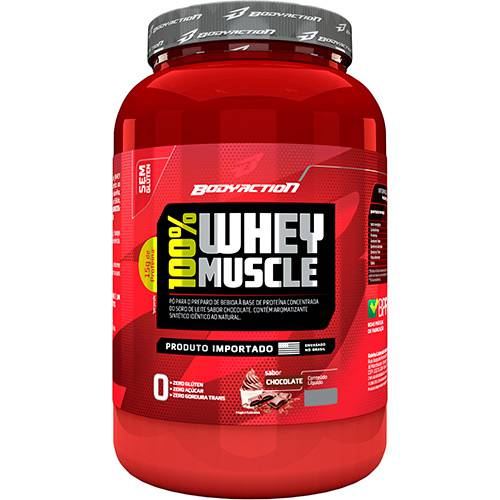 100% Whey Muscle 900gr Chocolate