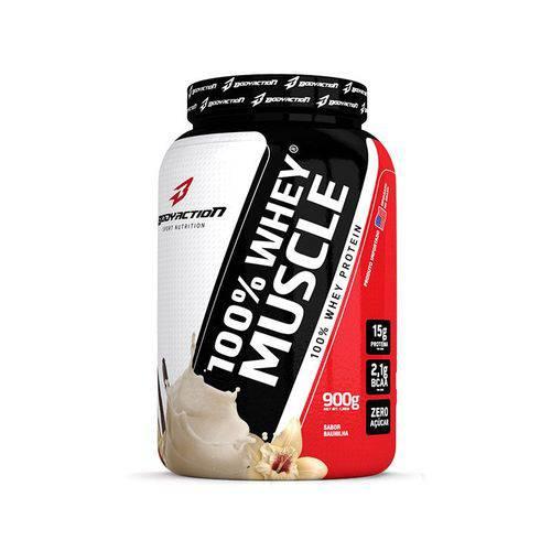 100% Whey Muscle Baunilha 900g Bodyaction