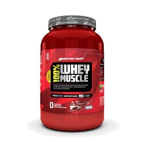 100% Whey Muscle - Baunilha 900g - Bodyaction