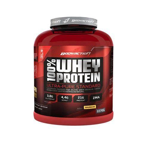 100 Whey Protein 2270g Morango - Body Action 4075008