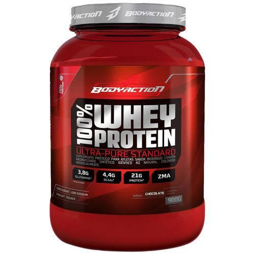 100 % Whey Protein - 900g - Body Action-morango