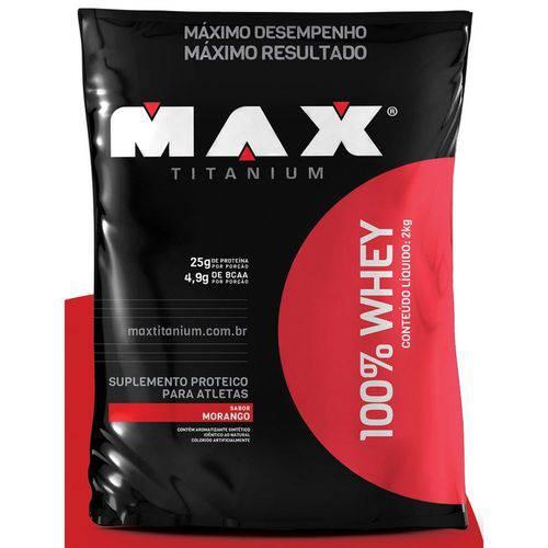 100% Whey Refil (2kg) - Max Titanium