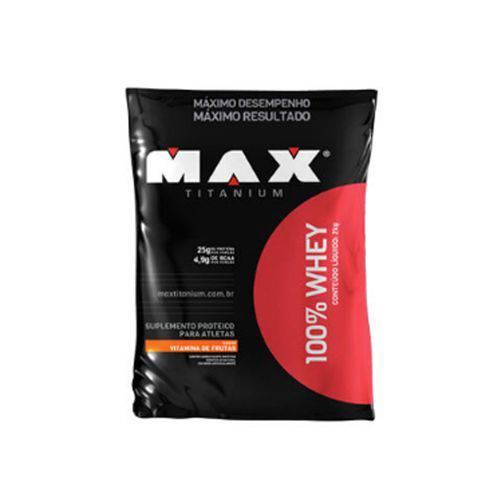 100% Whey Refil 2 Kg Morango - Max Titanium