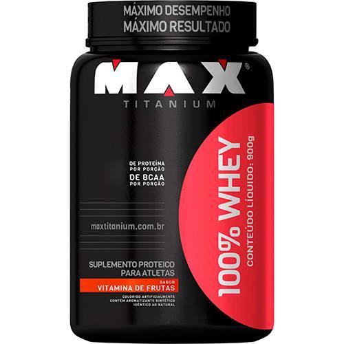 100% Whey - Suplemento Alimentar - Vitamina de Frutas 900g - Max Titanium