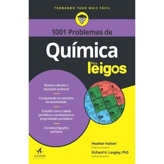 1001 Problemas de Quimica para Leigos - Alta Books