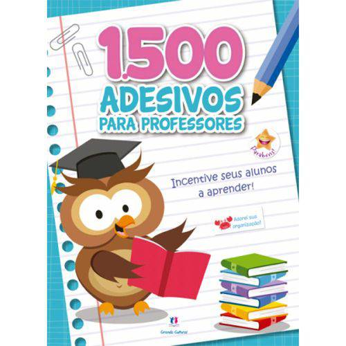 1500 Adesivos para Professores - Incentive Seus Alunos a Aprender - Azul