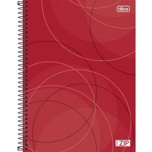 4 Cadernos Espiral Capa Dura Universitário 1 Matéria Zip - 96 Folhas