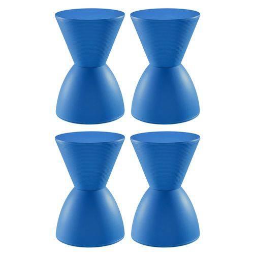 4 X Banquetas Tub - Prince - Azul