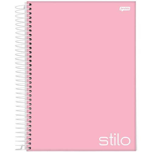 4 X Cadernos 1 Matéria Capa Dura 2019 Stilo Rosa Pastel 96 Folhas