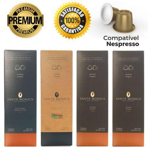40 Cápsulas para Nespresso Kit Degustação Café - Santa Monica