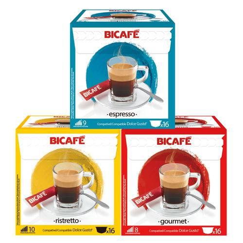 48 Cápsulas para Dolce Gusto Kit Degustação Café - Bicafé