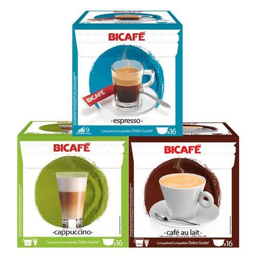 48 Cápsulas para Dolce Gusto Kit Degustação Café e Bebida - Bicafé