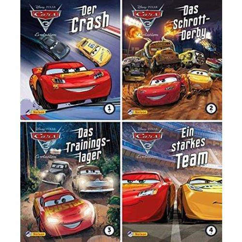4Er - Disney Cars 5 - 8 - Nelson Mini-Bücher