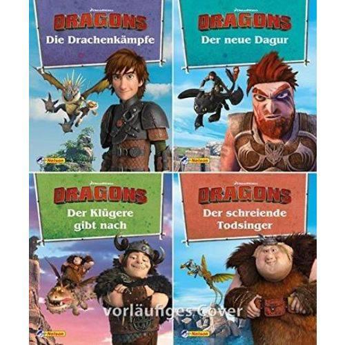 4Er - Dreamworks Dragons 9 -12 - Nelson Mini-Bücher