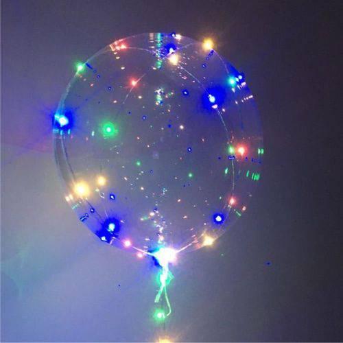 5 Balões Transparente com Led Colorido Bubble Decoração de Festas