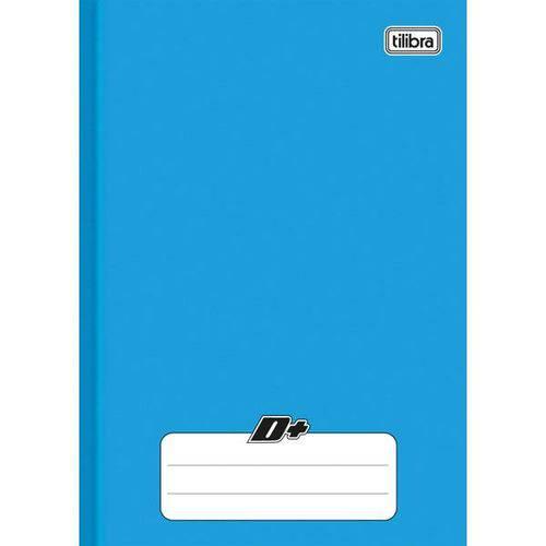 5 Caderno Brochura Capa Dura Universitário D+ Azul - 96 Folhas